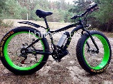 Электровелосипед LKS Fatbike Electro Rear Drive (black/green)