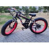 Электровелосипед LKS Fatbike Electro Rear Drive (black/red)