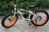 Электровелосипед LKS Fatbike Electro Rear Drive (white/orange)